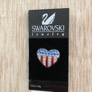 NEW Swarovski American heart pin